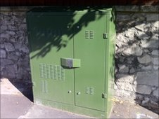 High-speed broadband cabinet in street