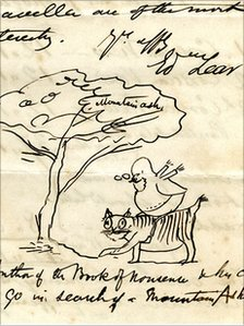 Part of a letter from Edward Lear
