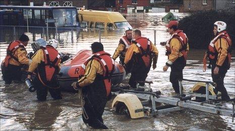 Lifeboat crews in Lewes