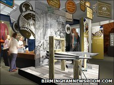 Artists impression of one of the new galleries