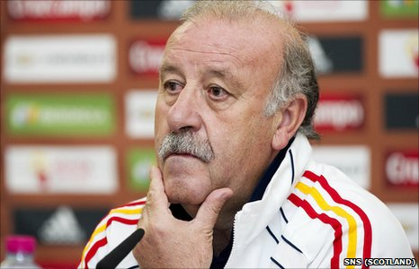 Spain manager Vicente del Bosque