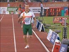 Matt Bailey in the men's 4x400m relay at the Delhi 2010 Commonwealth Games