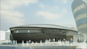 Computer image of new Mary Rose museum