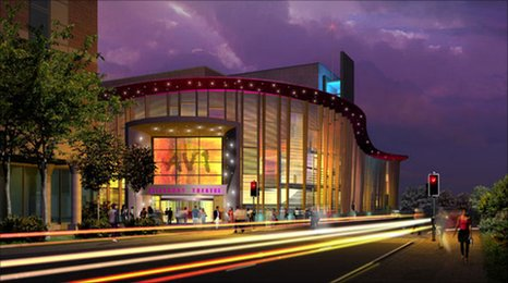 A vision of Aylesbury Waterside Theatre