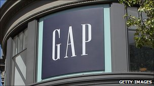 Gap blue box logo