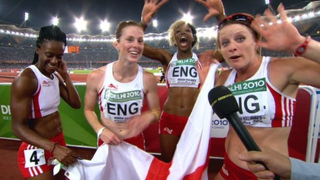 England's women's 4x100m relay team