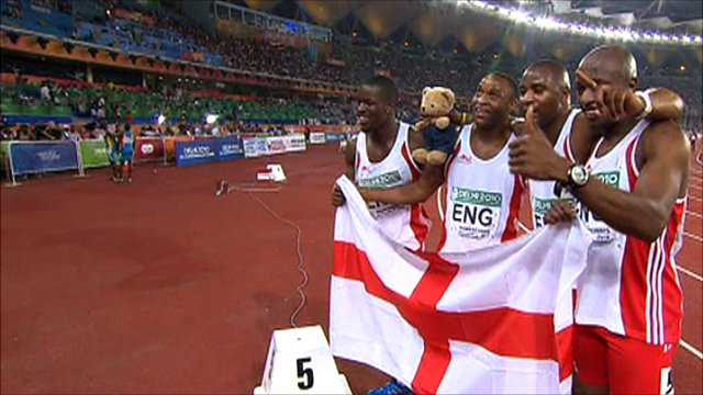 England's 4x100m men's relay team