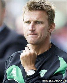 Hibernian first team coach Gareth Evans