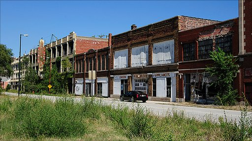 A street in Gary, Indiana