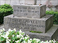 Ediths Cavell's grave