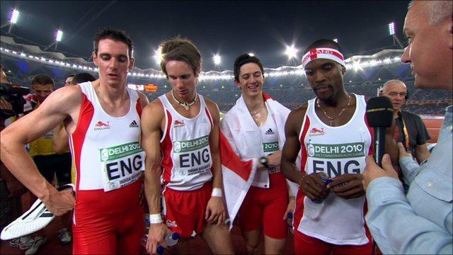 BBC Sport - Commonwealth Games 2010: Bronze for England's 4x400m men