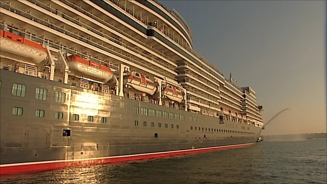 Queen Elizabeth leaving