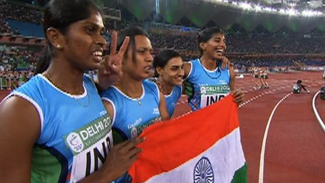 India's women's 4x400m relay team