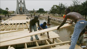 Preparations for the 50th anniversary of Ghanaian independence on 6th March 2007