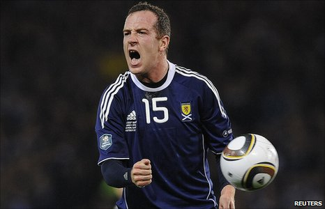 Scotland and Blackpool midfielder Charlie Adam