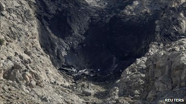 Site of the cargo plane crash