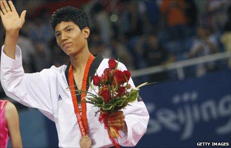 Rohullah with medal