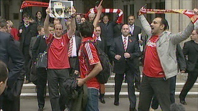 Liverpool fans at High Court