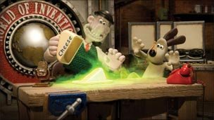 Wallace and Gromit with cheese