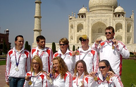 England's archers gather at the Taj Mahal