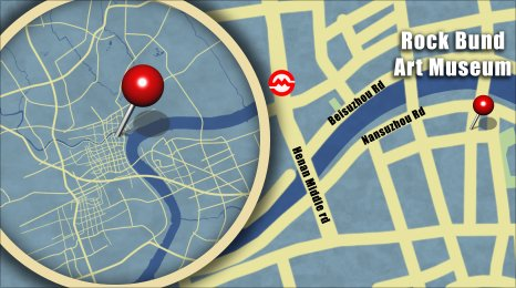 Map shows teh location of the Rockbund Art Museum
