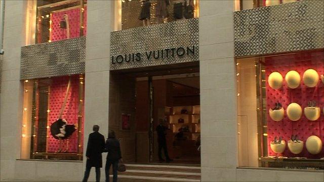 Exterior of the Louis Vuitton shop on New Bond Street