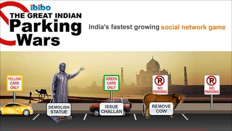 Ibibo&#039;s parking wars game