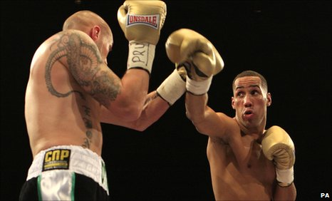 James DeGale (right) in action against Carl Dilks