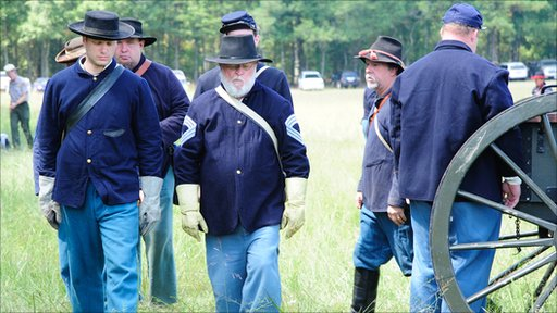 Reenacting the Battle of Chickamauga