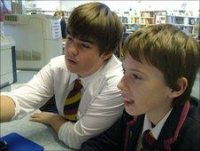 School Reporters Gareth and Josh