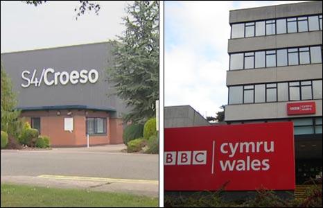 Mae swyddfeydd S4C yn Llanisien ar hyn o bryd a BBC Cymru yng Llandaf