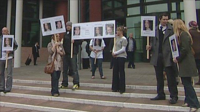 Protest outside Preston Crown Court