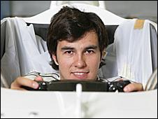New Sauber driver Sergio Perez