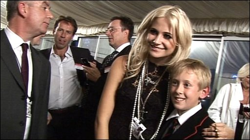 Pixie Lott with Press Packer Tom at the House of Commons
