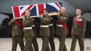 Repatriation ceremony of Sergeant Peter Rayner