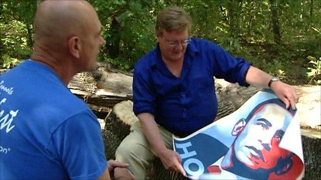 Mark Mardell and Obama poster