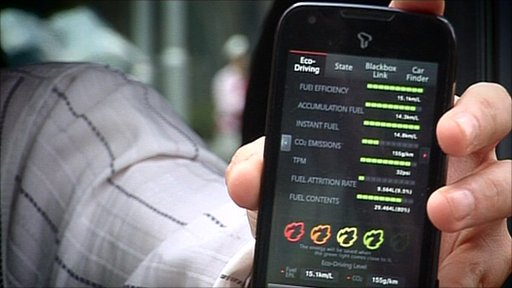 New phone app that can be synced up with a car