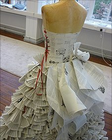 wedding dress made from paper
