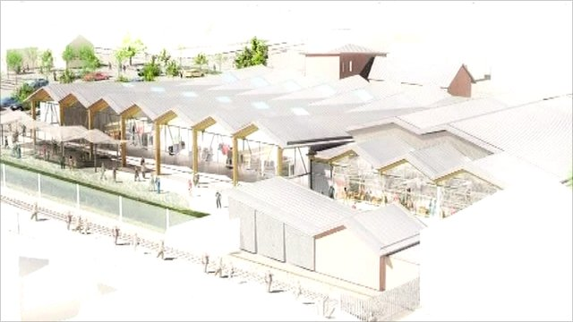 Artist's impression of Sheringham Tesco