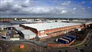 Jaguar Land Rover Castle Bromwich plant which has been saved from closure