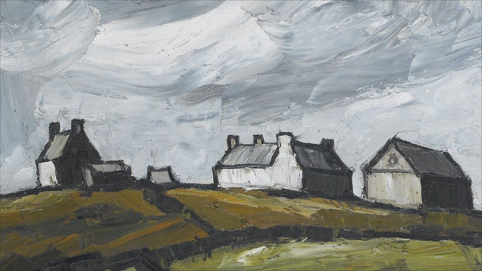 Bbc news in pictures welsh artists 39 sale for Modern house john welsh