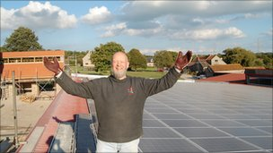 Michael Eavis, owner of worthy farm and host of the Glastonbury festival
