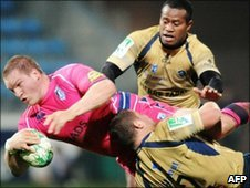 Action from Castres v Blues