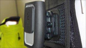 Body camera on police uniform