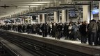 Passengers at the at the Gare du Nord station in Paris