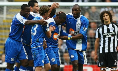 Wigan goalscorer Charles N'Zogbia