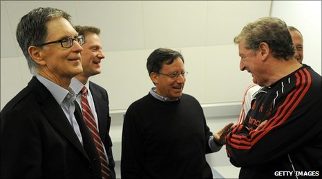 Left to right: John W Henry, Joe Januszewski, Thomas Werner and Roy Hodgson