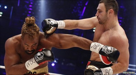 Briggs takes a right hand from Klitschko