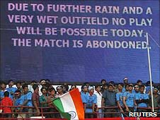 The first India v Australia one-dayer was abandoned