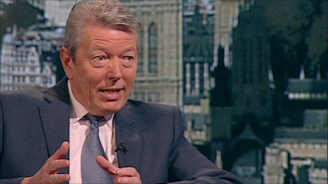 Shadow chancellor Alan Johnson
